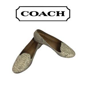Coach Snakeskin Flat Shoes. 6.5